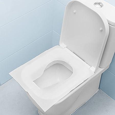 Wegwerfbar Hoch QualityToilet Sitzbez/üge Hygienisch Schutz R/ücksp/ül Abdeckung Waschraum Wei/ß 30 Covers