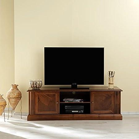 TV de/Phono Muebles Lombardia Nussbaum Antiguo barnizado de Albero Muebles: Amazon.es: Hogar