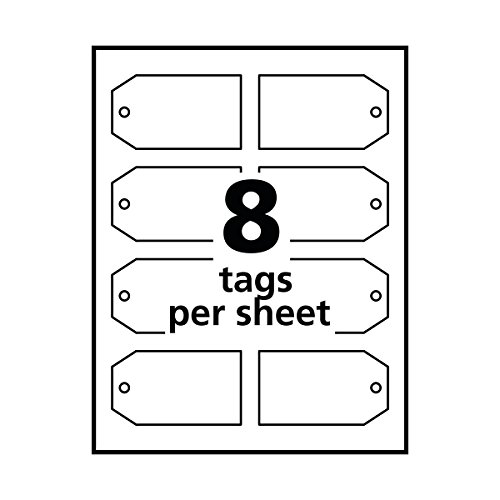 avery printable tags with strings for inkjet printers 2 x import
