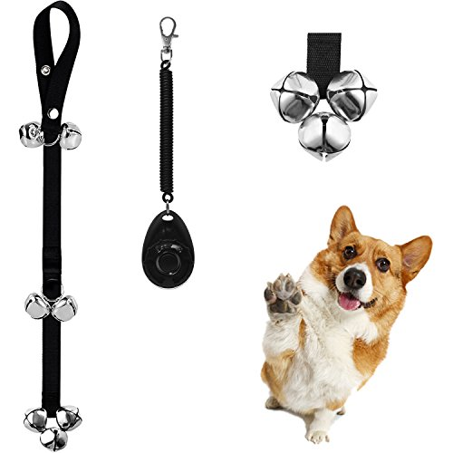Dog Doorbells Dog Bells for Potty Training Decorative Bells, 7 Premium Extra Large Loud 1.4'' Doorbells for Puppies Training, Includes 1PC Training - Bell And Dog