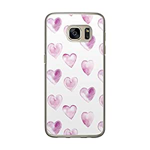 Loud Universe Samsung Galaxy S7 Love Valentine Files Valentine 45 Printed Transparent Edge Case - White/Purple