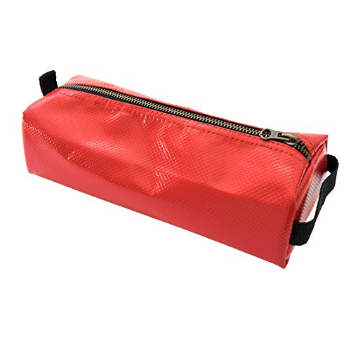 Vinyl Canvas Tool Pencil Case Pouch Handmade by Hide  Drink :: Red
