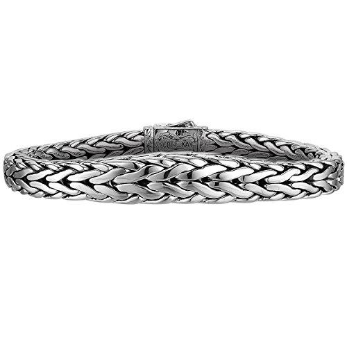 Doberman Tapered Edge Scott Kay Mens Sterling Silver Bracelet ()