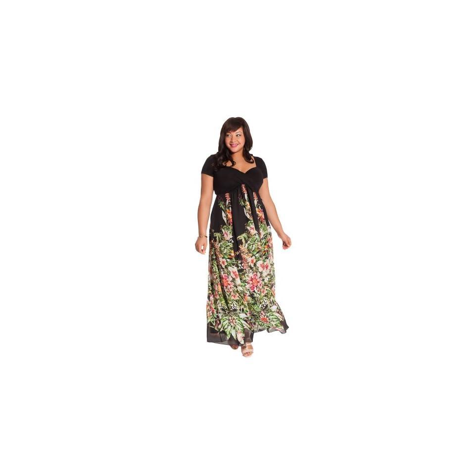 IGIGI Womens Plus Size Christina Maxi Dress in Black Floral