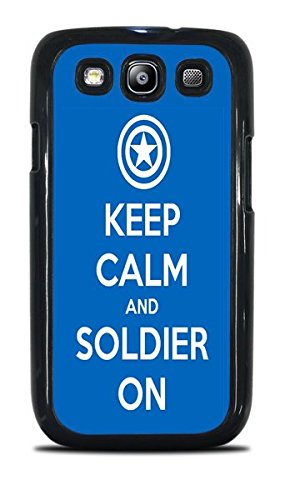 Popular Keep Calm Phone Case Black Hardshell Case for Samsung Galaxy S3