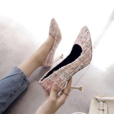 Xue Qiqi mit Tipp fein mit Qiqi High Heels Schuhe mit hellen Nähten Schuhe weiblich 34 beige 9 cm eb6013