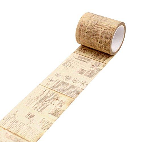 Fita decorativa de papel para máscara vintage Washi da Lightclub adesivo DIY Scrapbook adesivo