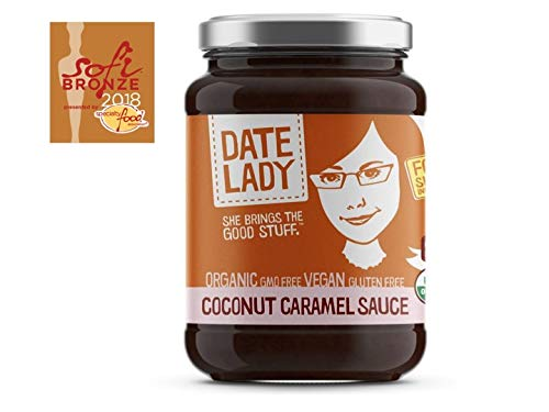 Date Lady Coconut Caramel, 3-pack | NO HFCS, ORGANIC, VEGAN, GLUTEN-FREE & KOSHER | For Coffee, Pancakes, Oatmeal (3 Pack)