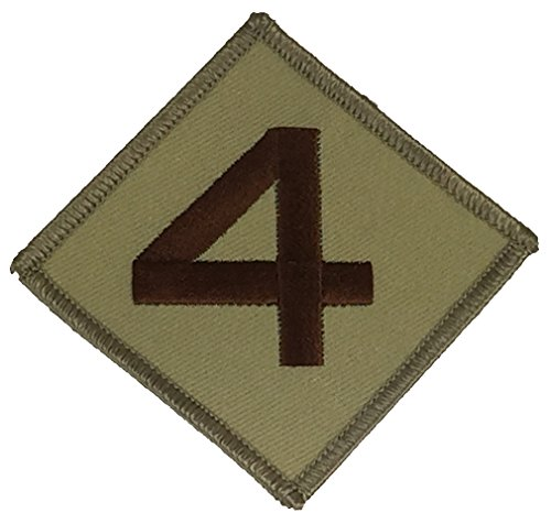 USMC 4TH MARINE DIVISION UNIT Patch - Desert/Tan - Veteran Owned Business. (Marines Patch 4th)