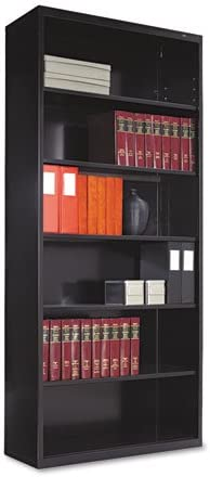 Tennsco Welded Bookcase – 34.5 x 13.5 x 78 – Steel – 6 x Shelf ves – Black