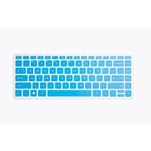 Leze - Ultra Thin Silicone Keyboard Protector Skin Cover for HP Stream 13-c*** 14-z*** Notebook series, such as 13-c002dx, 13-c010ca, 13-c010nr, 13-c020ca, 13-c030nr, 13-c077nr, 14-z010nr US Layout - Blue