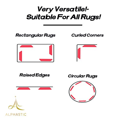 Premium Rug Gripper - Reusable Carpet Grippers, Suitable For Hardwood, Tile Floors. Alternative For Non Slip Pads, Sticky Tape. by Alphastic (Image #4)