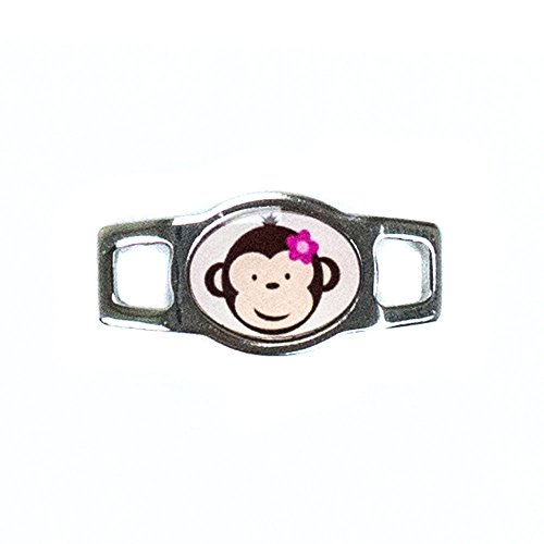 Paracord Planet Monkey Charms for Paracord Bracelets and Shoelaces Multicolored (Brown and Pink)