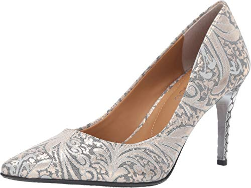 J. Renee Women's Maressa Gray/Gold Floral 7 M US ()
