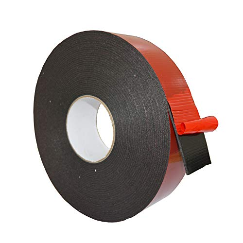 "LLP Double Sided Foam Tape 1"" Width x 50 Feet(2"" Width Available) for Automotive & Gap Filling Mountings, Outdoor Indoor Heavy Duty Strong Weatherproof - Polyethylene Mounting Tape"