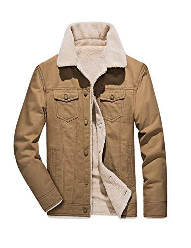 D'hiver À Fashion Coton Comode Manches Manteau Hx Abiti Longues Beige En Taglie Pour Courtes Hommes Épais qU7BwBIFx