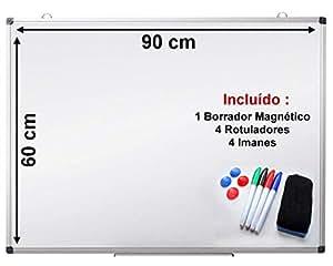 Pizarra blanca magnetica OFIBIT con marco de aluminio. Alta calidad ...