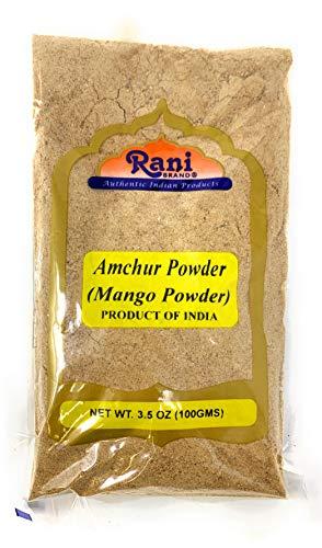 Rani Amchur (Mango) Ground Powder Spice 3.5oz (100gm) ~ All Natural, Indian Origin | No Color | Gluten Free Ingredients | Vegan | NON-GMO | No Salt or fillers ()