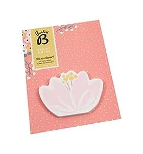 Busy B 4818 - Cuaderno con adhesivos, 50 hojas, diseño de flores
