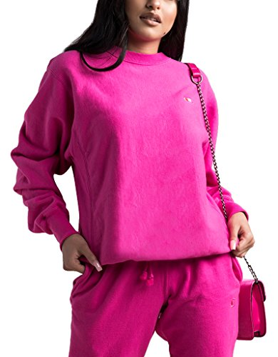 Champion LIFE Men's Reverse Weave Sweatshirt, Amaranth Pigment Dyed, - Cotton Sweatshirt Champion