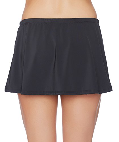 Nautica Women's Signature Skirted Bikini Bottom, Black, Large