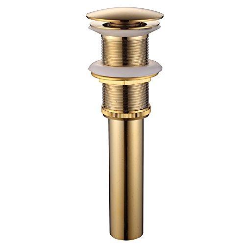 Flg Solid Brass Bathroom Vessel Sink Pop Up Drain Stopper Without Overflow Gold Buy Online In