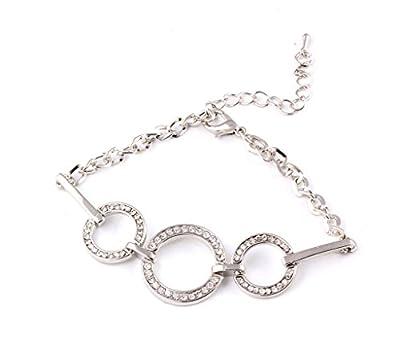 SONGQIAN Womens Fashion Circles Interlocking Bracelet