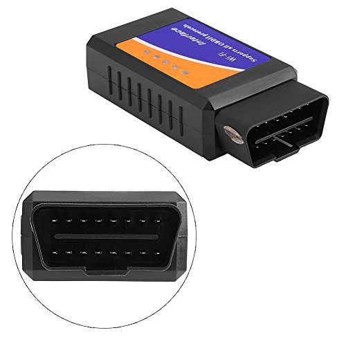 Qiilu Super Mini Wireless WiFi V1.5 OBD2 OBDII Car Auto Diagnostic Scanner Tool for iPhone Android by Qiilu (Image #2)