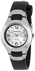 Armitron Sport Unisex 25/6418BLK Analog Easy-to-Read Dial Black Resin Strap Watch