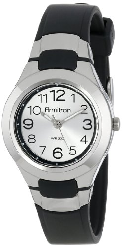 Armitron Sport Unisex 25/6418BLK Analog Easy-to-Read Dial Black Resin Strap Watch by Armitron Sport