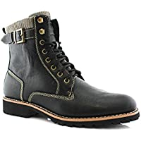 polar fox Baldwin MPX508572 Dual Lace-up & Zipper Combat Boot
