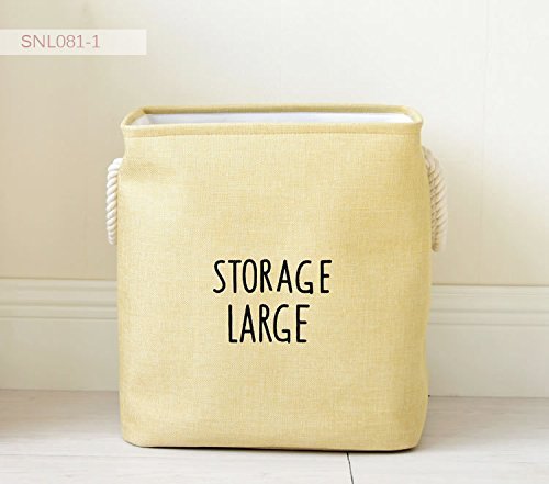Gold Happy Large Laundry Hamper Bag Canvas Clothes Storage Baskets Home Clothes Barrel Bags Kids Toy Storage Laundry Basket Thickness Bins