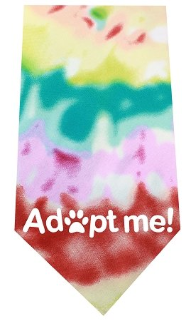 Mirage Pet Products Adopt Me Screen Print Bandana Tie Dye, One Size by Mirage Pet Products