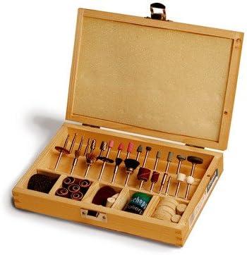 Scheppach 88002730 - Juego de herramientas de 103 piezas en cajas de madera para sierra de calar,: Amazon.es: Bricolaje y herramientas