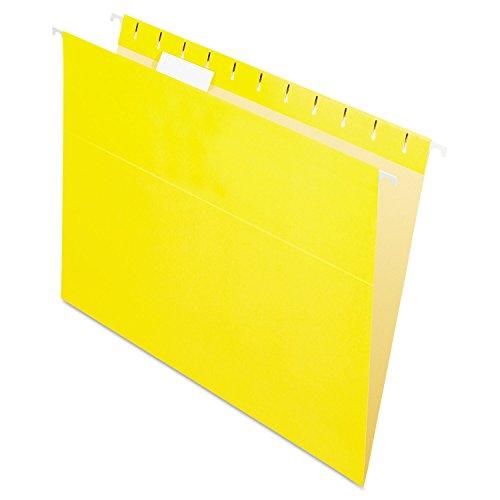 Pendaflex 81606 Colored Hanging Folders, 1/5 Tab, Letter, Yellow, 25/Box