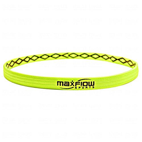 MaxFlowSports Cross-Grip Hairband, One size, Neon Green