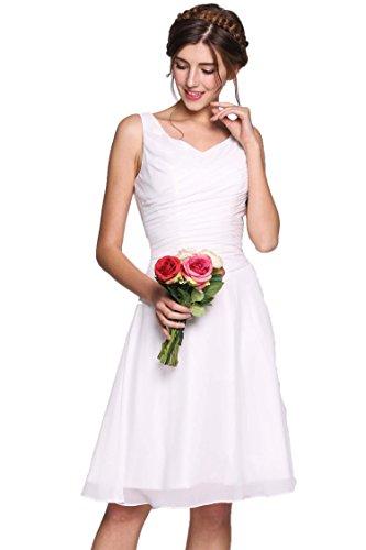 ANGVNS Princess Knee Length Bridesmaid Cocktail