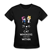 YUXIANG Women's Dan And Phil The Cats Whiskers Come From Within T-shirt Size M