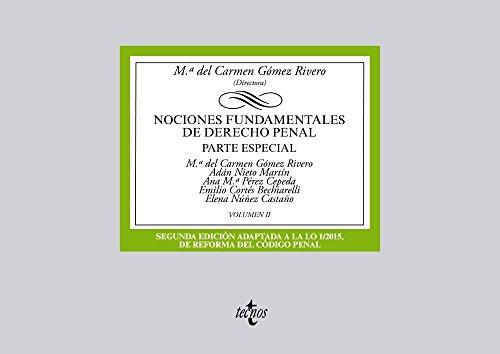 Descargar Libro Nociones Fundamentales De Derecho Penal. Parte Especial - Volumen Ii Mª Del Carmen Gómez Rivero