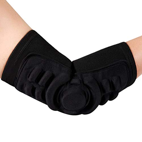 LIOOBO Fietsen Elleboog Pad Comfortabele Elleboog Bescherming Supportor Elleboog Guard voor Fietsen Rijden Sport Zwart