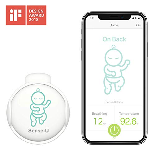 Sense-U Baby Monitor with Breathing Rollover Movement Temperature Sensors: Track Your Baby's Breathing