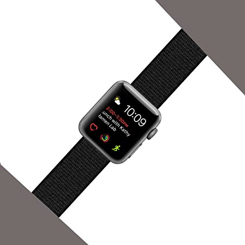 Yunsea For Apple Watch Band Series 1 Series 2 Series 3 Nike+ Hermes Edition, Nylon Sport Loop, with Hook and Loop Fastener, Adjustable Closure Wrist Strap, Replacement Band for iwatch, 38mm 42mm