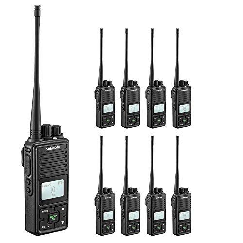 Two Way Radio,SAMCOM FPCN10A Walkie Talkie 20 Channels Wireless Intercom Portable Bussiness Radio with Group Button,UHF 400-470MHz, 2 Watt Radio(Pack of 9) ()