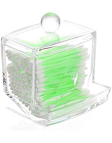 drawihi Hotel ofrece pequeñas y fácil de llevar Cristal dispensador bastoncillos Box, caja