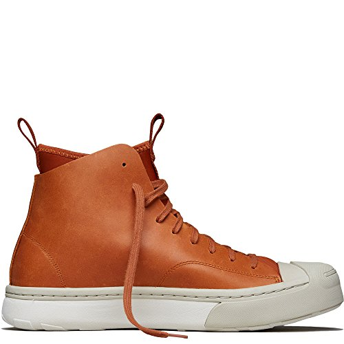 Converse Jack Purcell Leather Sneaker Boot Hi, Antique Sepia/Burlap/Buff, 11 (Shows Converse)