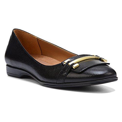 Naturalizer Mujeres Joyce Flat Black Leather