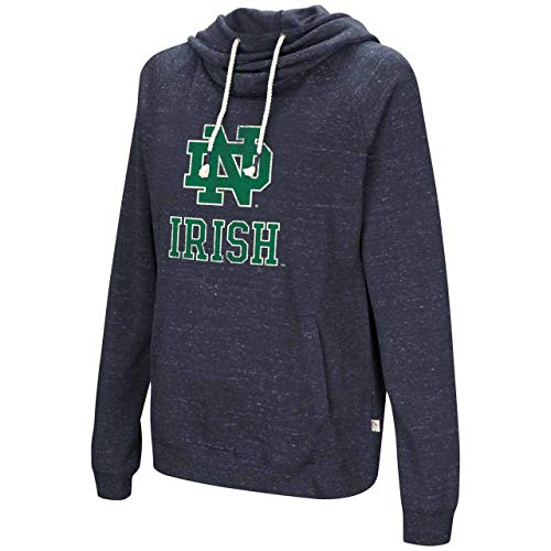 Colosseum Notre Dame Fighting Irish Womens NCAA I'll Go with You Hooded Sweatshirt - Navy, Womens - Notre Dame Today Game