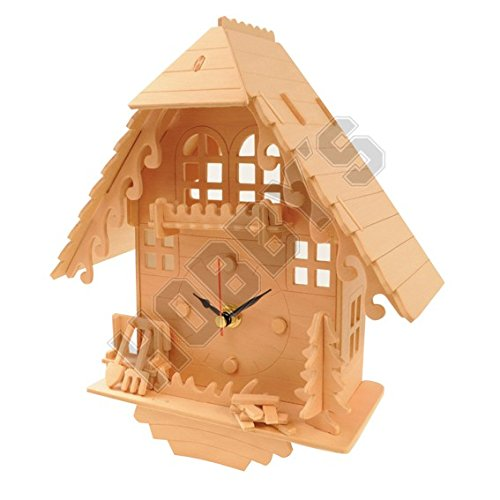Cuckoo Clock: Wood Craft Assembly Wooden Construction Clock - Wood Clock Kits
