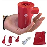 portable air matress - Red Suricata Rechargeable Air pump – Lightweight, USB, portable, cordless, electric battery powered & operated mini air pump for inflatables, mattresses, lounger sofa, pool floats, vacuum bags, airbed