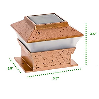 GreenLighting 2 Pack Solar Square Outdoor Post Cap Lights for 4x4 (Copper)